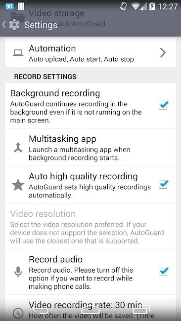 #7. AutoGuard Dash Cam - Blackbox (Android)