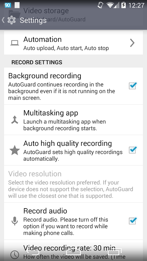 AutoGuard Dash Cam - Blackbox- screenshot