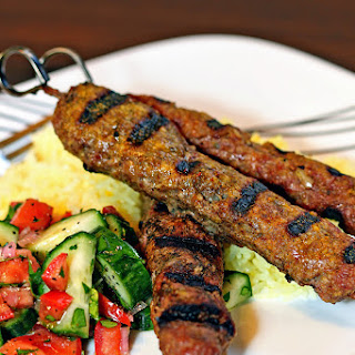 Grilled Lamb and Beef Koobideh Kebabs