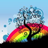 Rainbow Tree Live Wallpaper