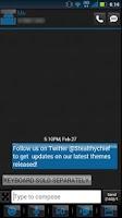 Screenshot of GO SMS Clean Blue Theme
