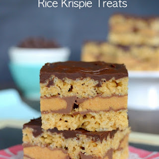 Peanut Butter Cup Rice Krispie Treats.