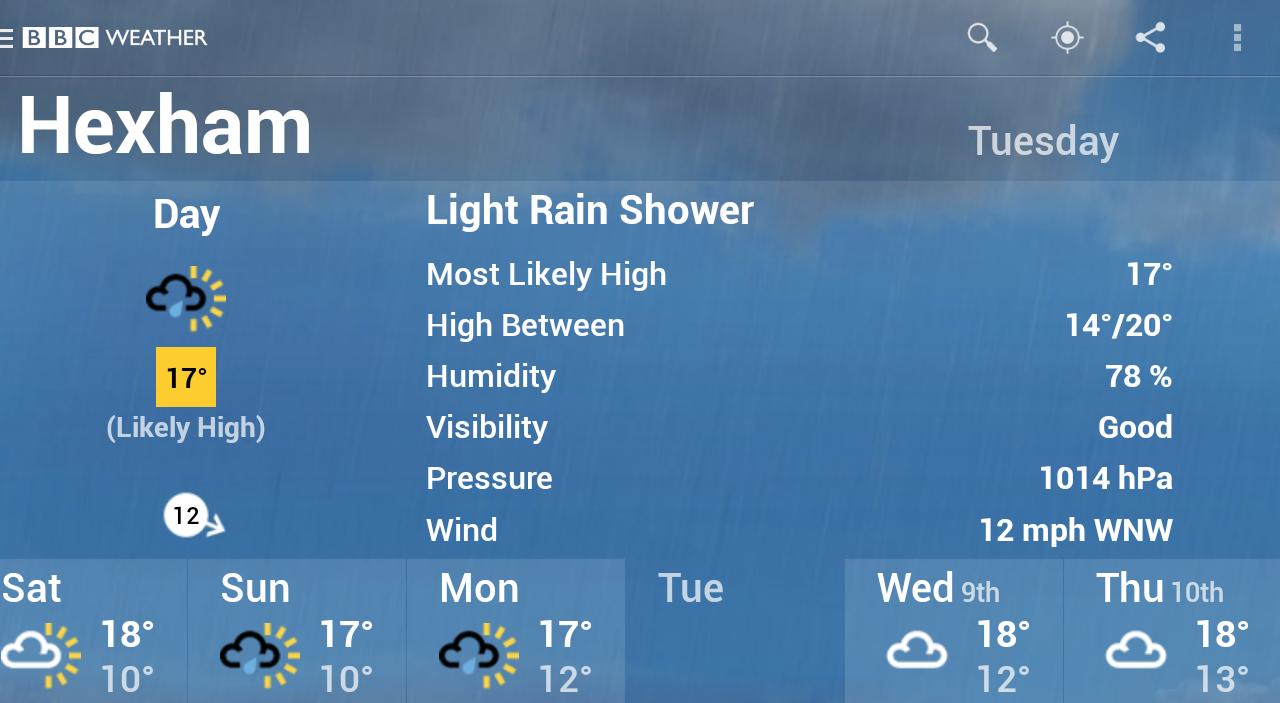 BBC Weather screenshot #17