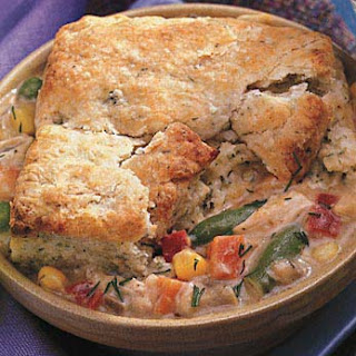 Chicken and Vegetable Pot Pies with Dilled Biscuit Topping