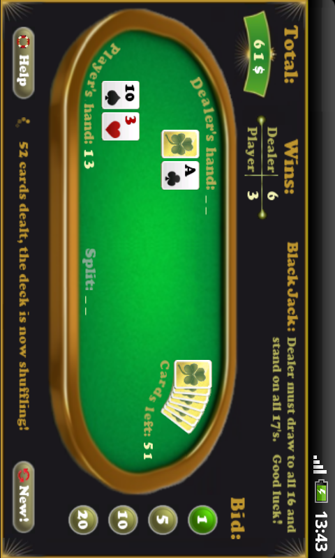 BlackJack - screenshot