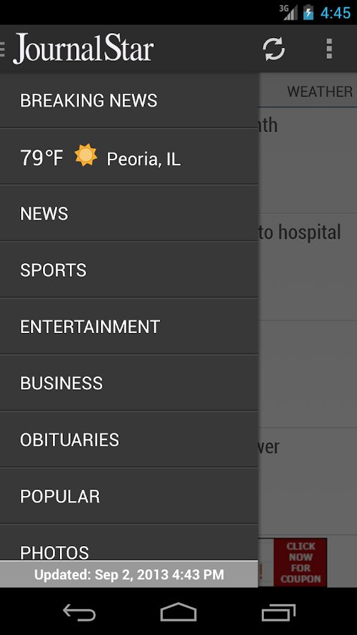 Journal Star, Peoria, Illinois - screenshot
