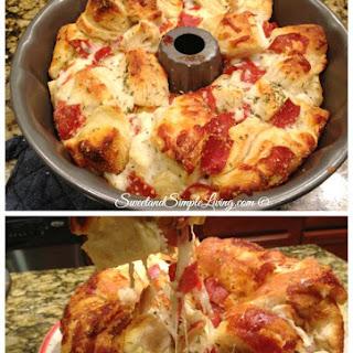Easy Pull Apart Pizza Bread.