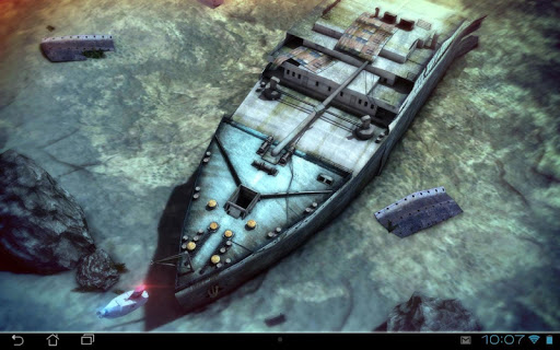 Titanic 3D Pro live wallpaper Apps for Android screenshot
