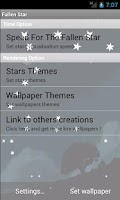 Screenshot of Night Fallen Stars LWP