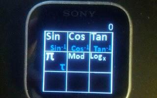 Screenshot of Calculator for Sony SmartWatch