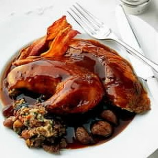 Roast Pheasant with Chestnut Stuffing and Port and Chestnut Sauce