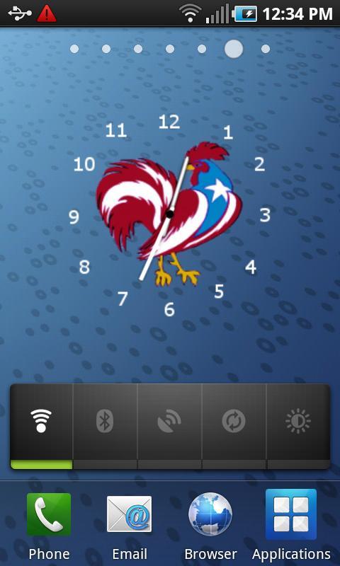 Puerto Rico Rooster Clock- screenshot