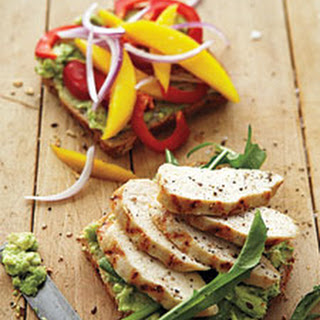 Grilled Chicken with Mango, Bell Pepper, and Avocado.