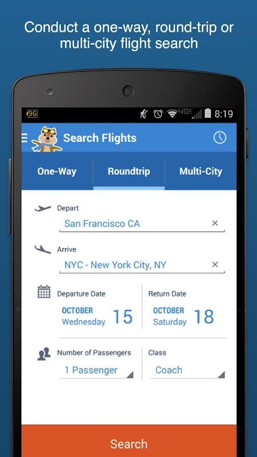 Hipmunk Hotels & Flights - screenshot