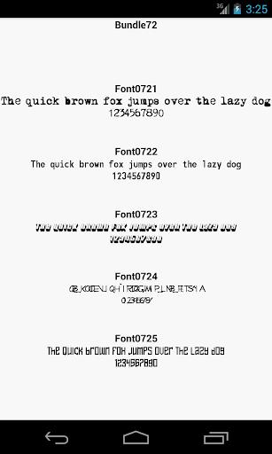 Fonts for FlipFont 72