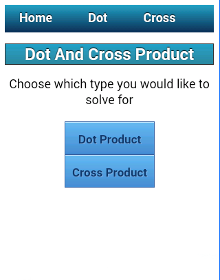Dot and Cross Product Solver