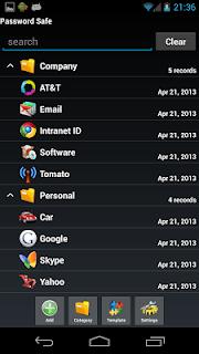 Password Safe screenshot