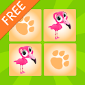 Kids Animals Memory Game Free icon