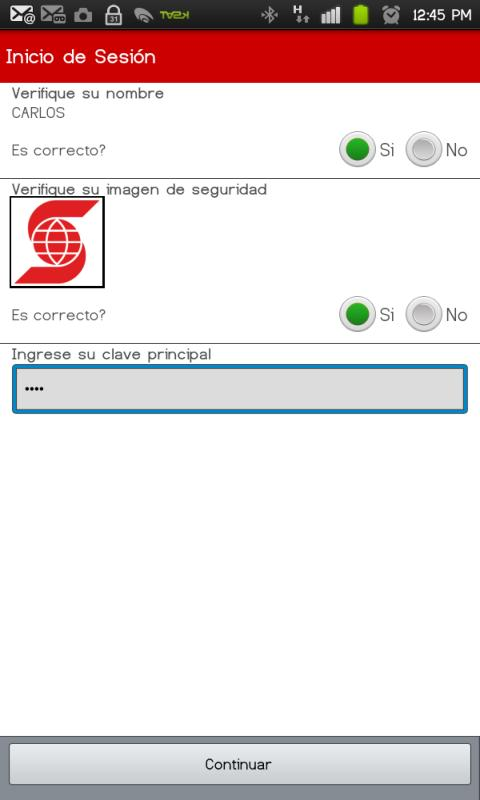 Banca Móvil Scotiabank Perú - screenshot