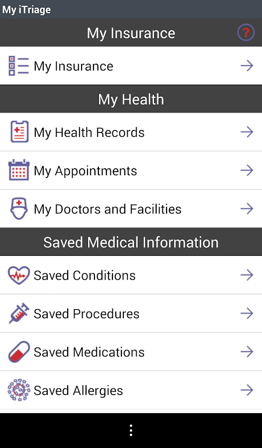 iTriage Health- screenshot
