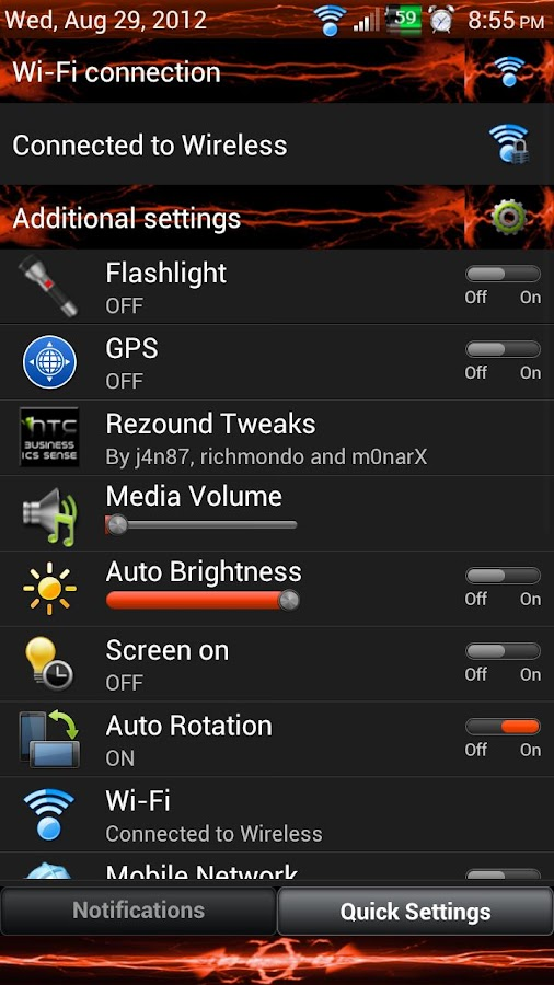 Orange Energy 3.6 Skin V2- screenshot