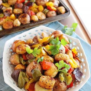 Roasted Chicken Sausage, Peppers and Potatoes