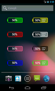 Glow Battery Widget- screenshot thumbnail