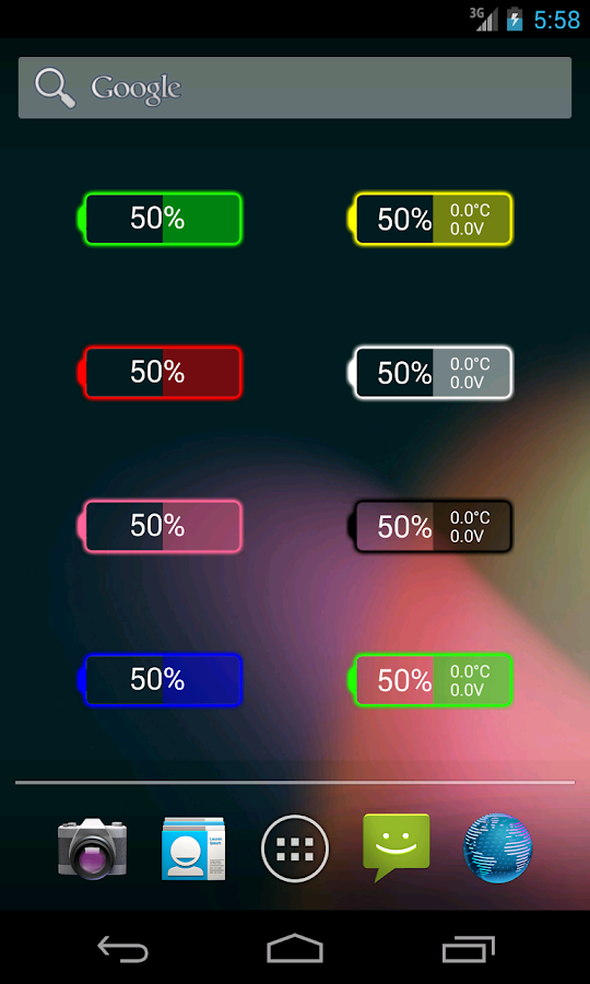 Glow Battery Widget- screenshot