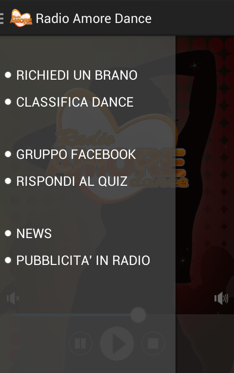 Radio Amore Dance- screenshot