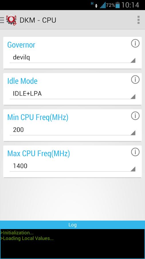 Devil Kernel Manager- screenshot