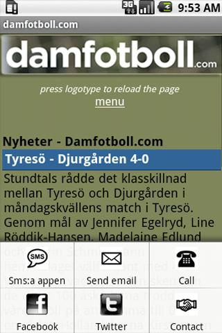 women´s football (soccer)- screenshot