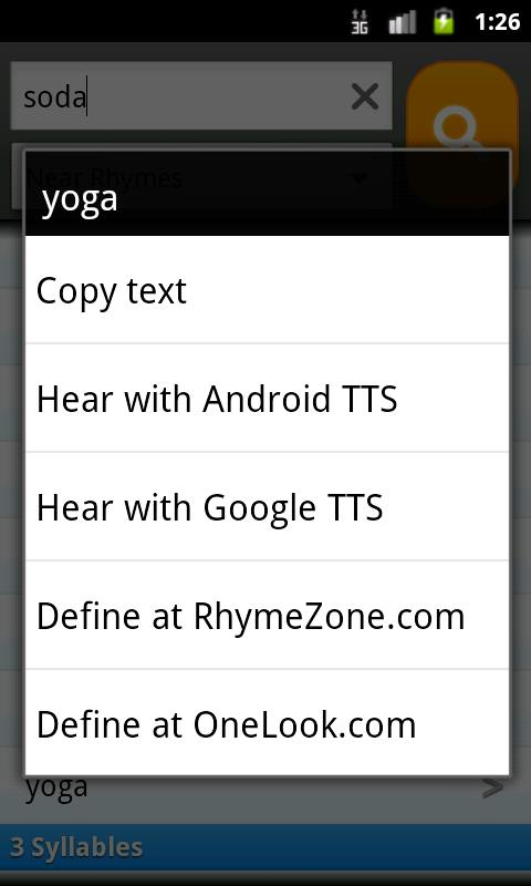 RhymeZone Rhyming Dictionary- screenshot