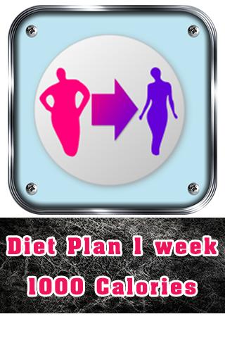 Diet Plan 1 week 1000 Calories