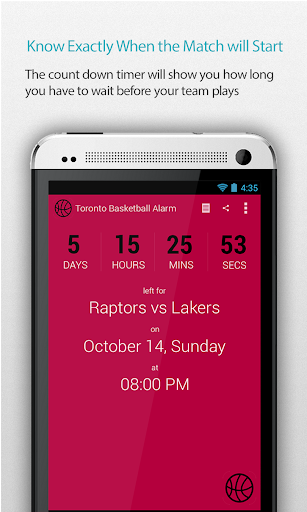 Toronto Basketball Alarm Pro