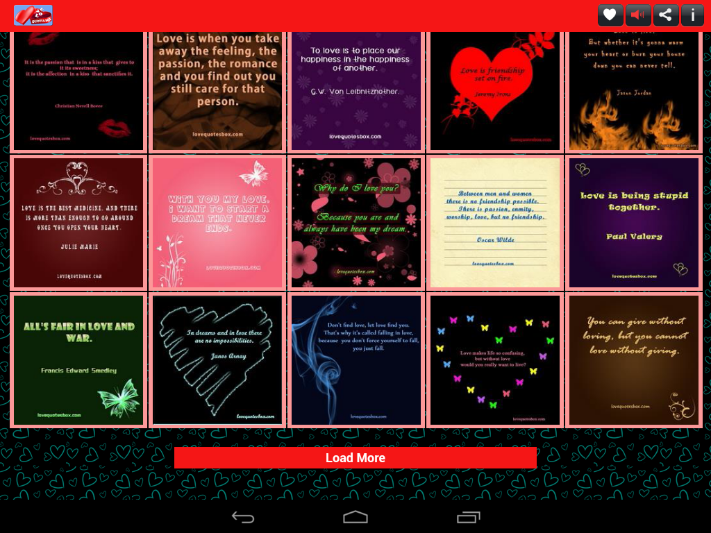 Love Quotes Box - screenshot