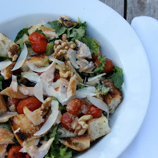 Grilled Caesar Panzanella with Smoked Trout