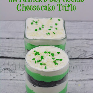 St. Patrick's Day Cookie Cheesecake Trifle