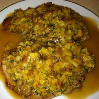 Crazy Good Stuffing and Baked Chops.