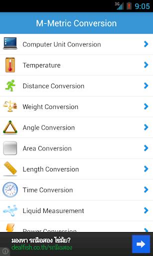M-Metric Conversion