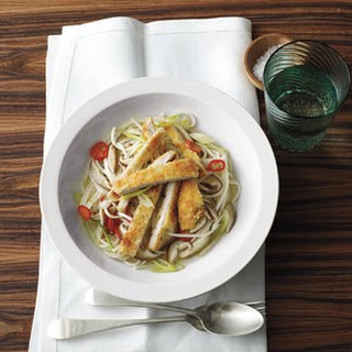 Pork Cutlets With Spicy Noodles