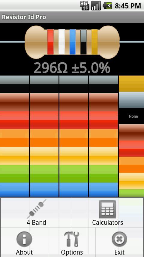 Resistor ID Pro Toolbox- screenshot