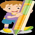 Cartoon Färbung Spiel icon