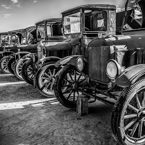 Model A Row by George Herbert - Black & White Objects & Still Life