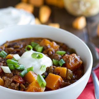 Butternut Squash Chili with Beef.