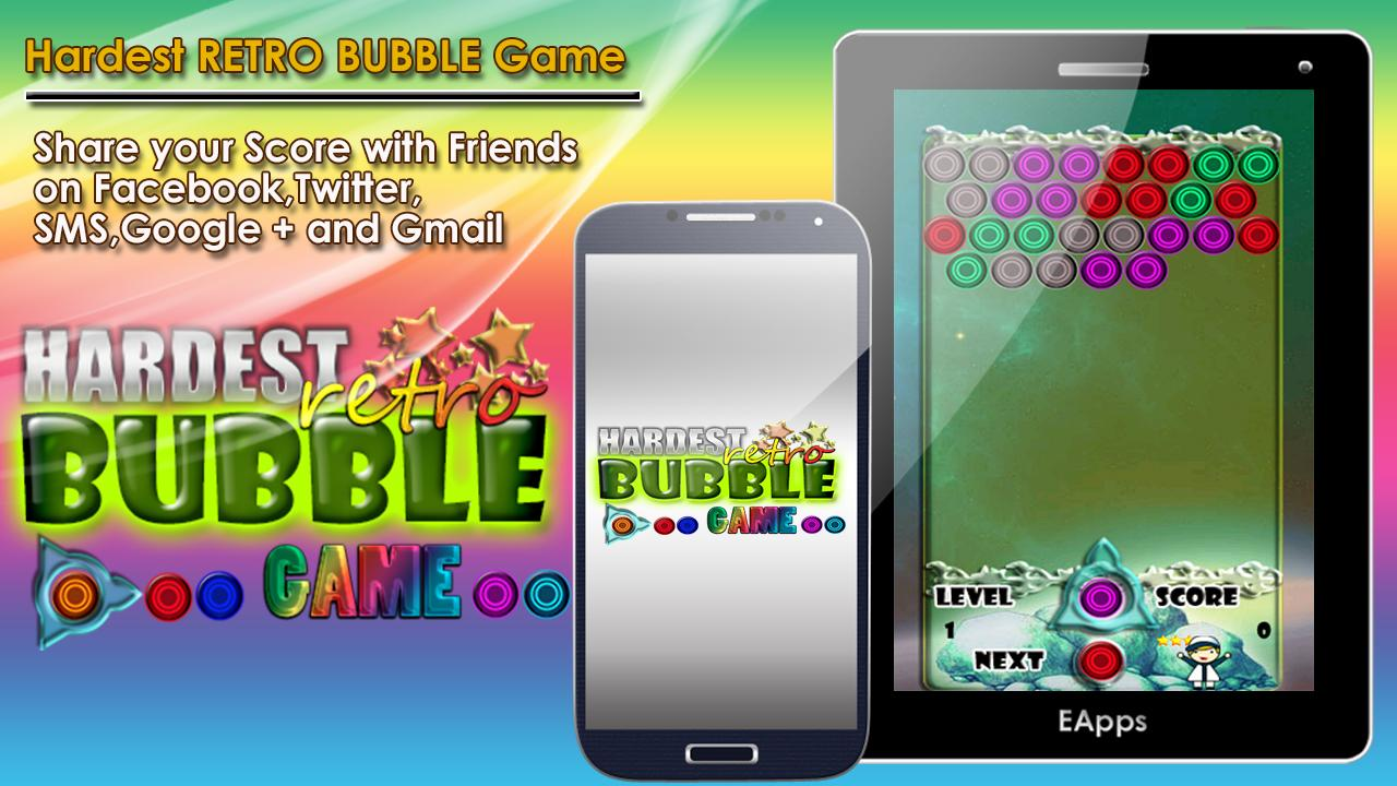 Hardest Retro Bubble Game - screenshot