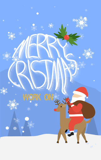 Work on Xmas - KakaoTalk Theme