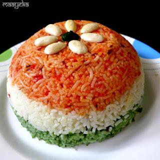 Tiranga Pulao / Vegetable Pilaf.