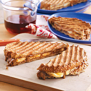 Banana-Almond Butter French Toast Sandwiches