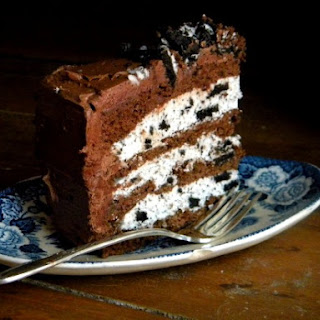 Chocolate Layer Cake with Cookies and Cream Filling