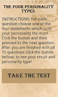 Screenshot of The 4 Types - Personality Test